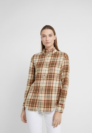 GEORGIA CLASSIC LONG SLEEVE SHIRT - Blůza - brown/green