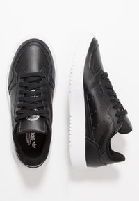 adidas Originals - SUPERCOURT - Trainers - core black/footwear white - 0