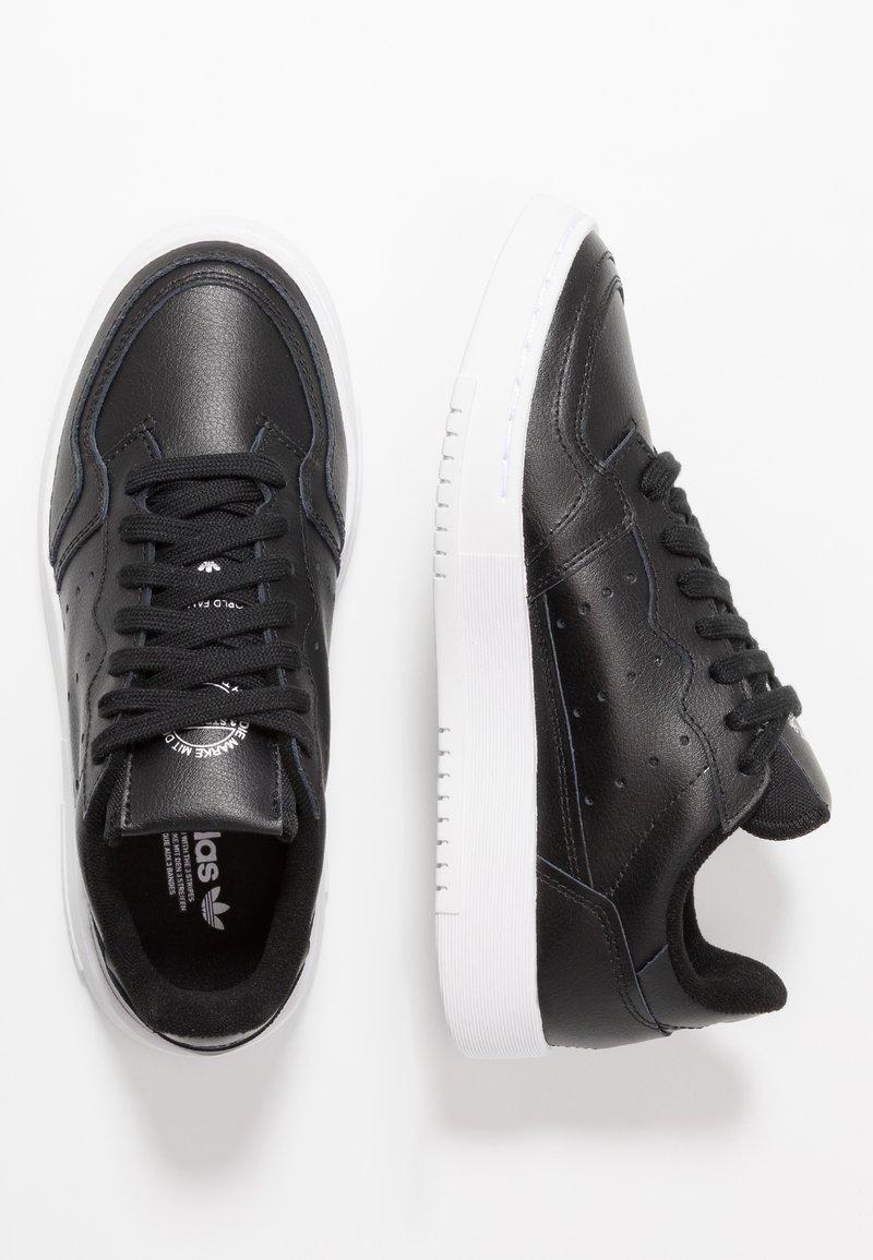 adidas Originals - SUPERCOURT - Trainers - core black/footwear white