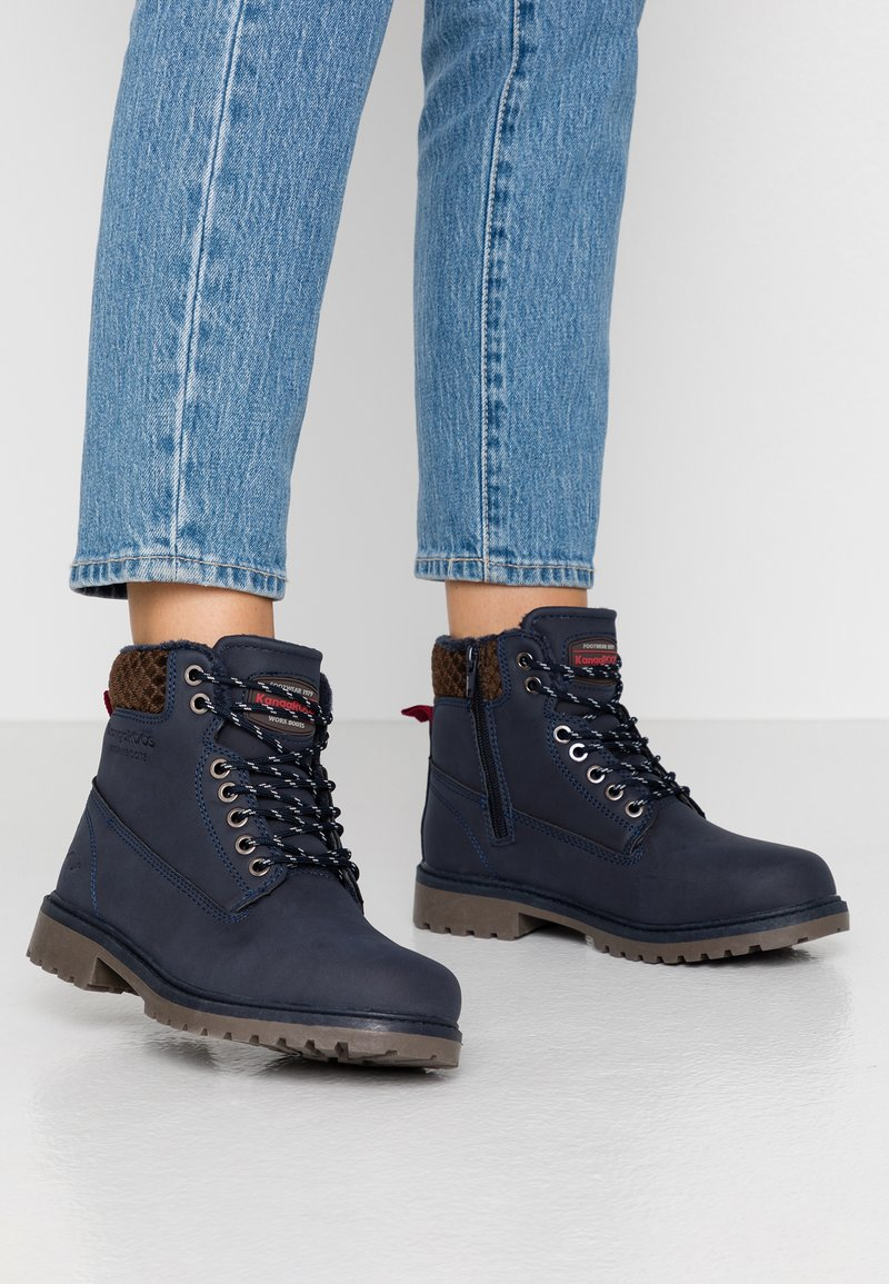 KangaROOS - RIVETER - Ankle boots - dark blue