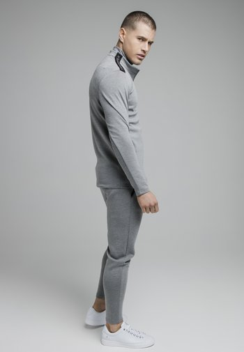 Felpa con zip - grey marl