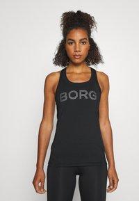 Björn Borg - MEDAL RACERBACK TANK - Sports shirt - black/silver - 0