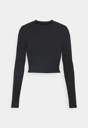 JUMPER SHEER BACK - Long sleeved top - black