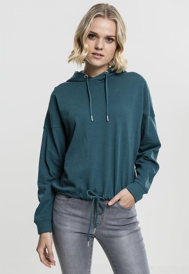 GATHERING - Bluza z kapturem - turquoise