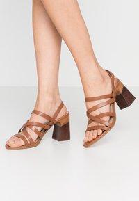 ALDO - DINDILOA - Sandals - cognac - 0