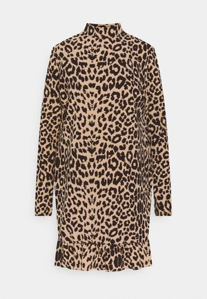 LEOPARD FRILL  - Day dress - brown