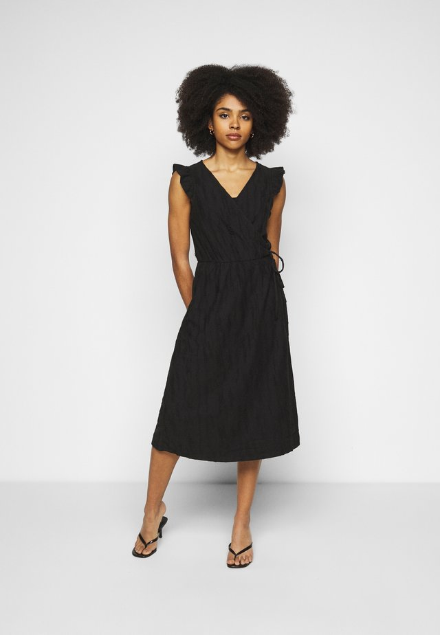 OBJINDRA SABRINA DRESS - Korte jurk - black