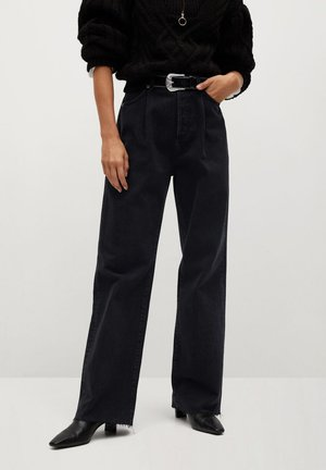 DANIELA - Flared jeans - black denim