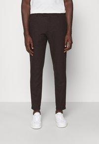 Les Deux - COMO SUIT PANTS - Trousers - burgundy - 0