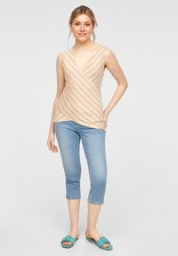 comma - Top - beige stripes - 1