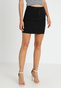 Missguided - SUPERSTRETCH SKIRT  - A-line skirt - black - 0