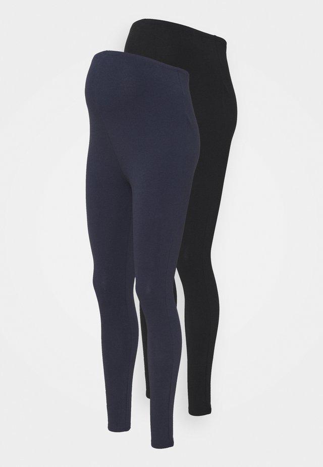 2 PACK - Legging - black/dark blue