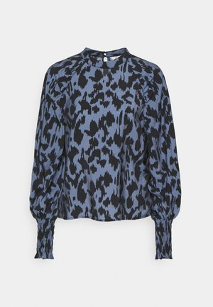 OBJMARCELA SMOCK - Blouse - blue mirage/black