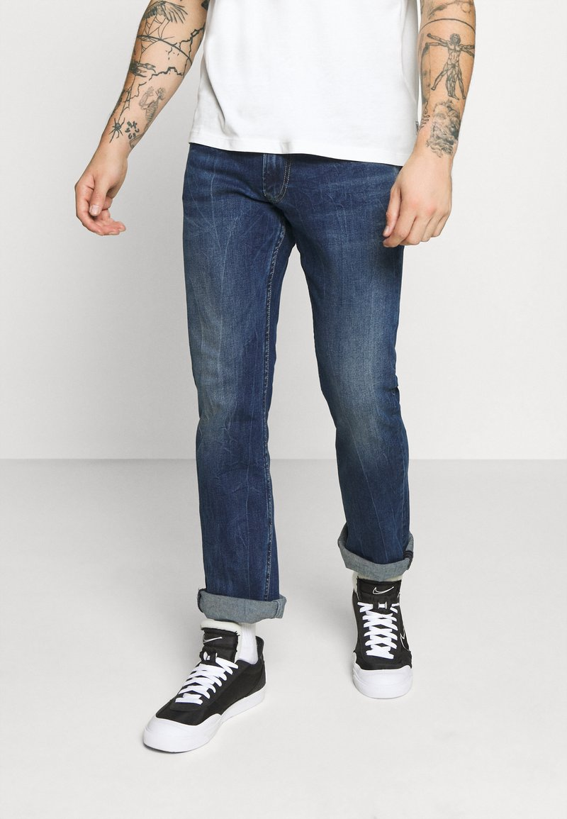 Pepe Jeans - ALFIE - Flared Jeans - dark-blue denim