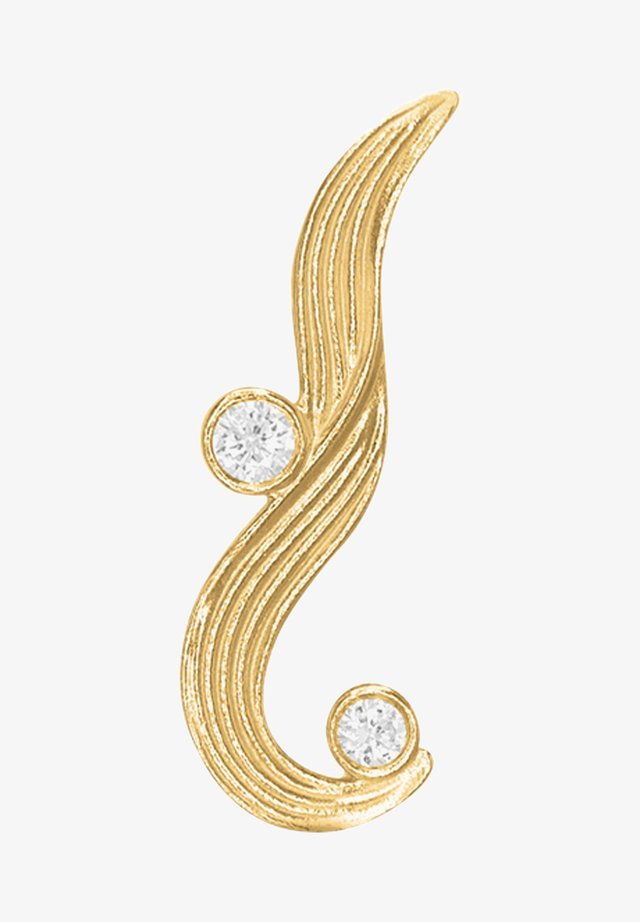 Single earring - The Darning Needle - Left - Øreringe - gold