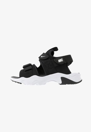 CANYON SLIDE - Sandals - black/white