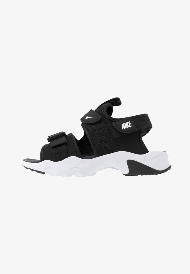 CANYON SLIDE - Sandalen - black/white