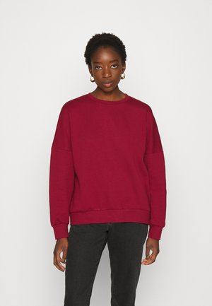 OVERSIZED CREW NECK SWEATSHIRT - Sweatshirt - red