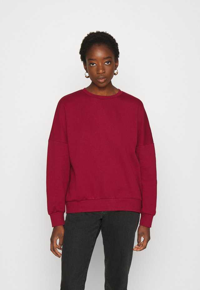 OVERSIZED CREW NECK SWEATSHIRT - Collegepaita - red