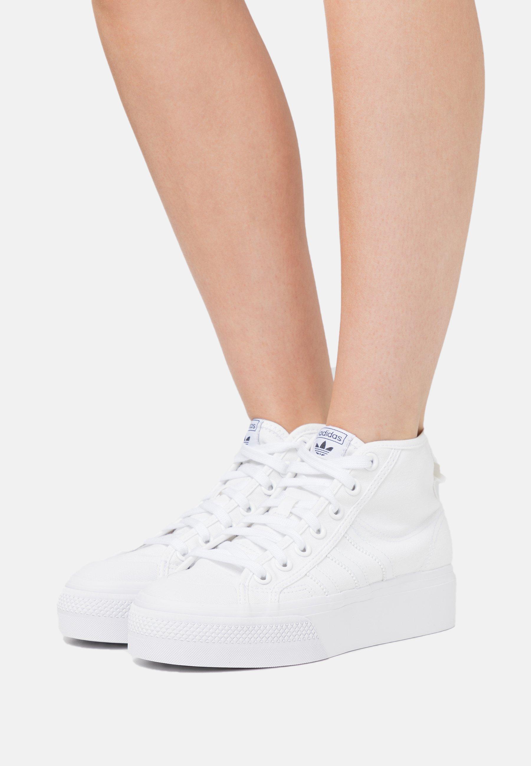 NIZZA PLATFORM MID - Baskets montantes - footwear white