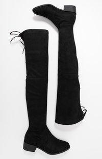 Dorothy Perkins - TRALLALA TIE BACK LONG STRETCH BOOT - Kozačky nad kolena - black - 3