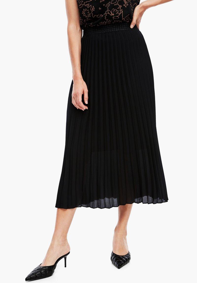 s.Oliver BLACK LABEL - CRÊPE - A-line skirt - true black