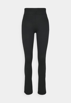 YARA SLIT - Leggings - black