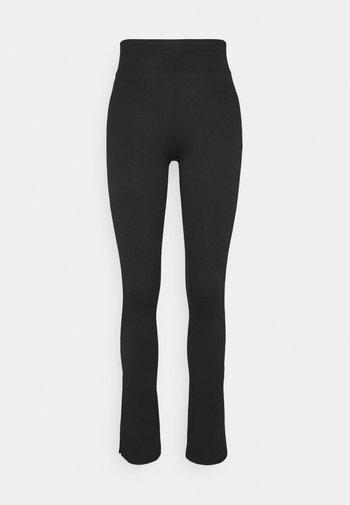 YARA SLIT - Leggings - Trousers - black