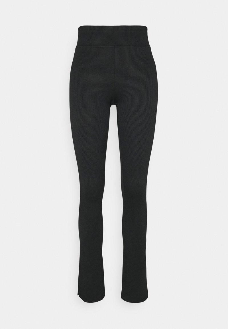 Gina Tricot - YARA SLIT - Leggings - Trousers - black