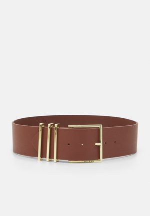 BELT NOT ADJUSTABLE SOFT WAIST BELT - Pásek - cognac