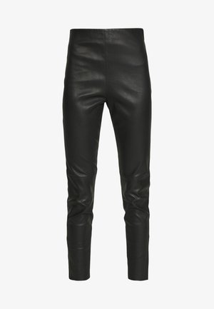 ARCADIA - Leather trousers - schwarz
