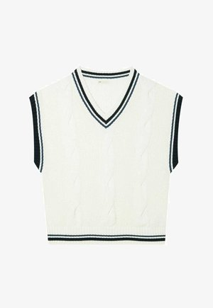 COLLEGE - Stickad tröja - white