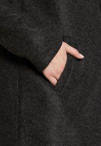 Vero Moda Tall - VMBRUSHEDKATRINE JACKET - Classic coat - dark grey melange - 5