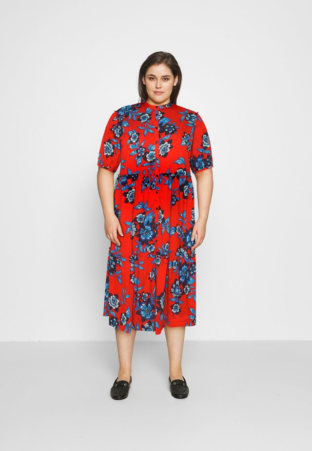 FLORAL MIDI DRESS - Blousejurk - hot house/fireworks