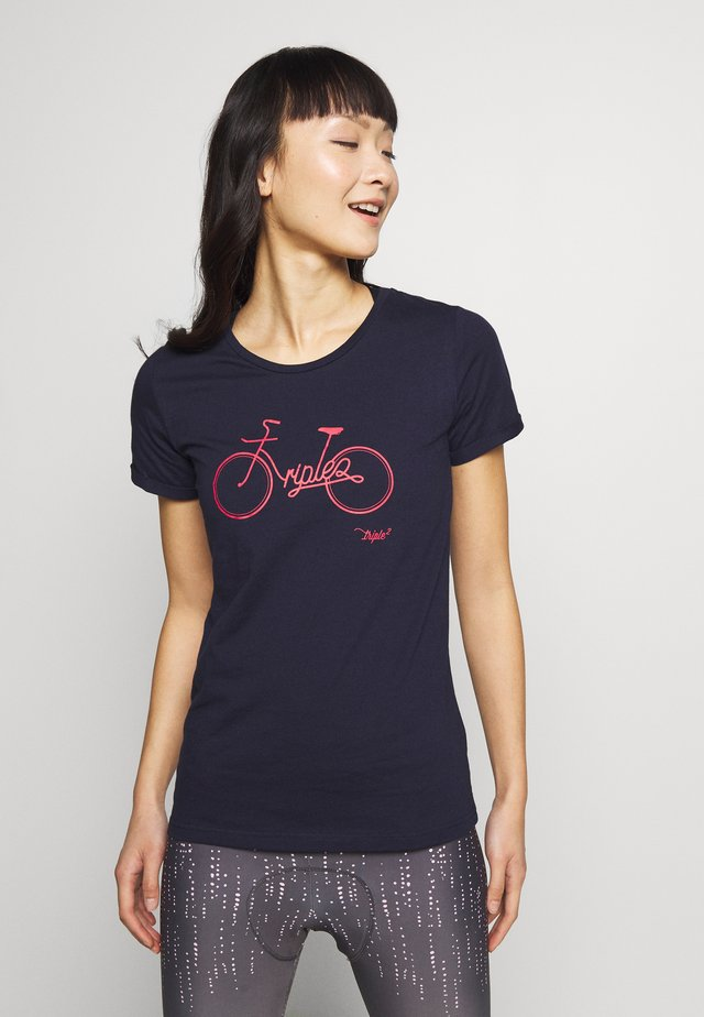 T-shirts med print - peacoat