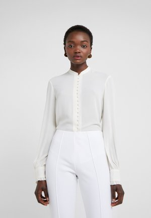 SHEER BUTTON BLOUSE - Camisa - cream