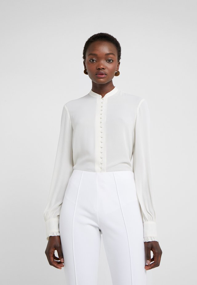 SHEER BUTTON BLOUSE - Skjorte - cream