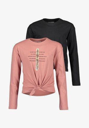 DO MORE - Long sleeved top - damson  schwarz