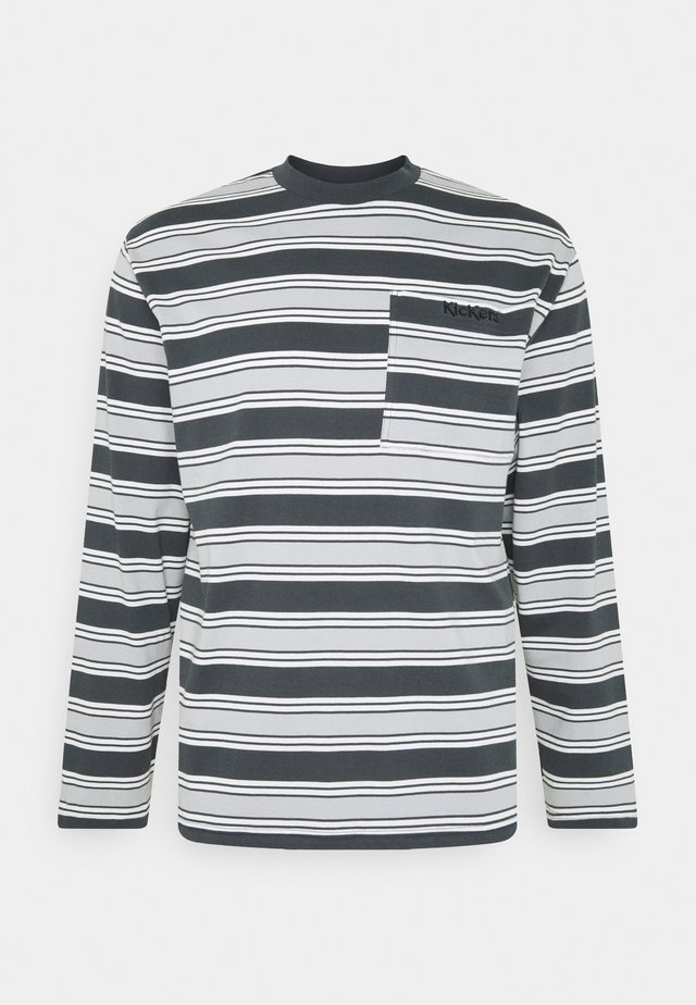 LONGSLEEVE STRIPE TEE - Long sleeved top - grey
