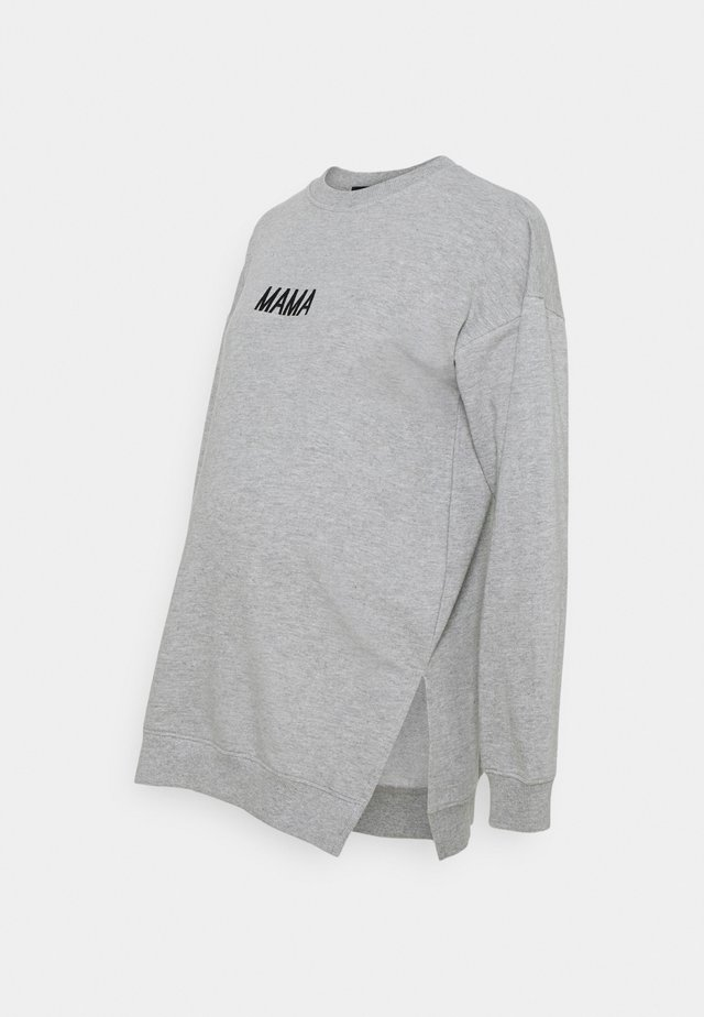MAMA  - Sweatshirt - grey marl
