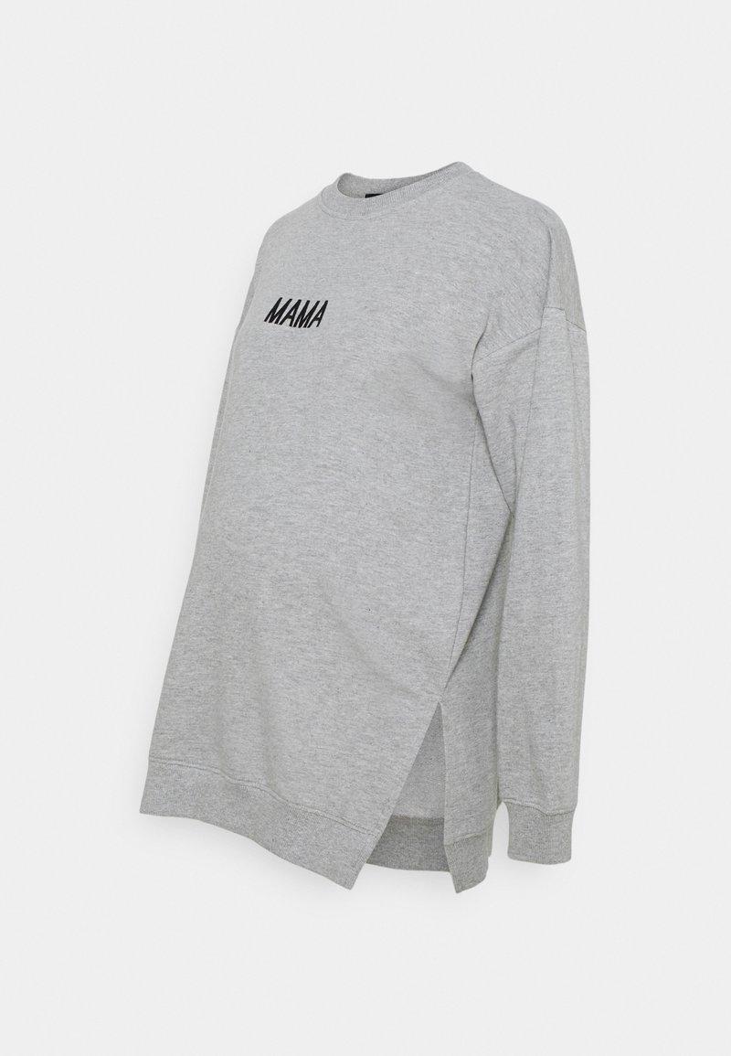 Missguided Maternity - MAMA  - Sweatshirt - grey marl