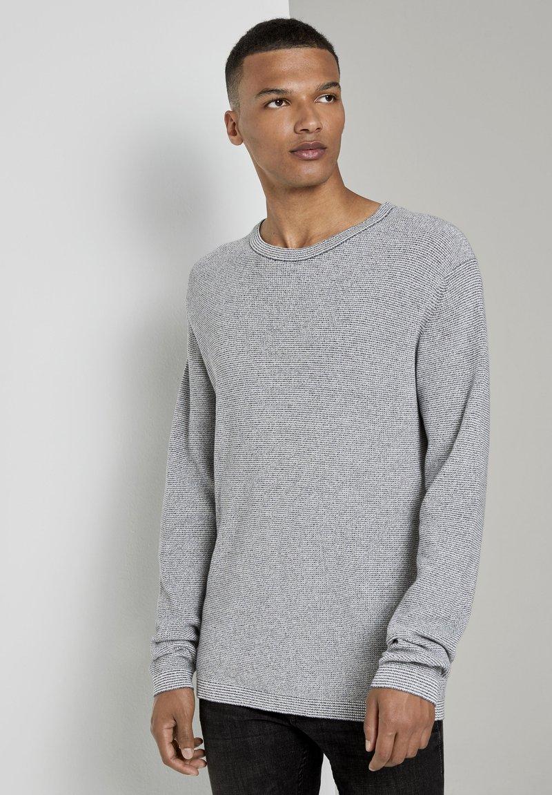 TOM TAILOR DENIM - Jumper - woolwhite grindle stripe