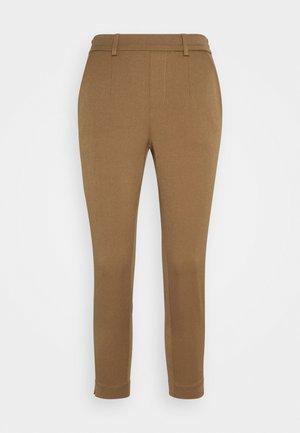 OBJLISA SLIM PANT  - Trousers - sepia