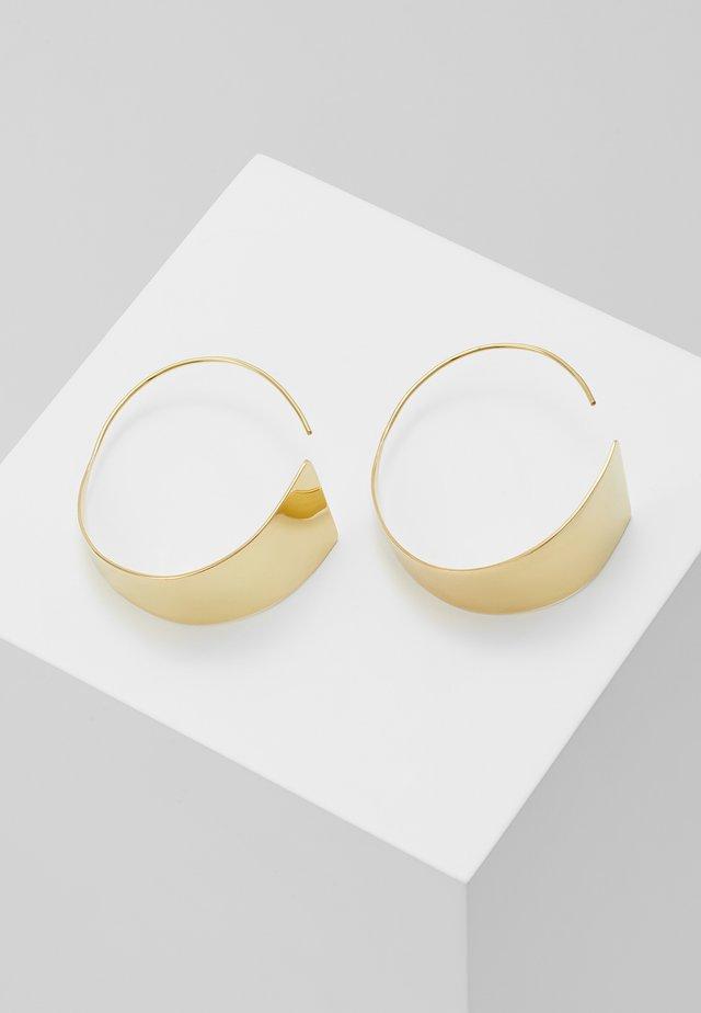 ZURI THREADER EARRINGS - Örhänge - gold-coloured