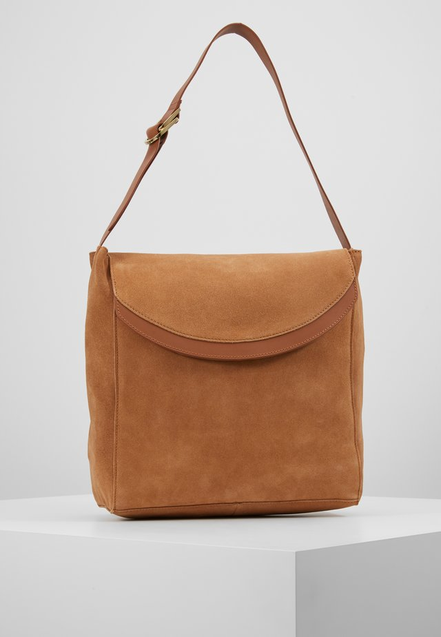 LEATHER - Handbag - cognac
