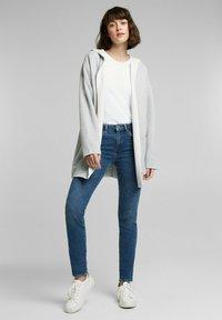 edc by Esprit - MIT KAPUZE - Cardigan - light grey - 1