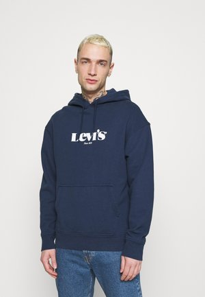 RELAXED GRAPHIC  - Hoodie - blues