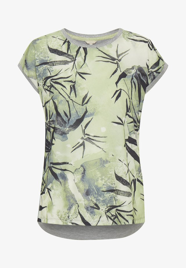 Camiseta estampada - green leaf/sky print