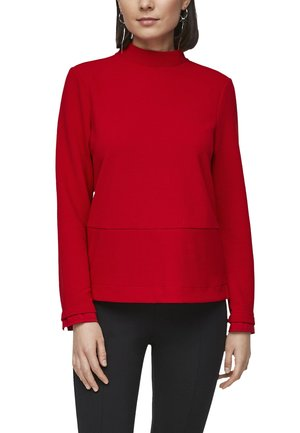 MIT RIPPSTRUKTUR - Jumper - red