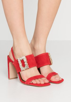 PASCAL - High heeled sandals - red